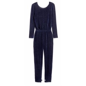 [ H & M ] Metallic Blue Sparkle Jumpsuit Romper